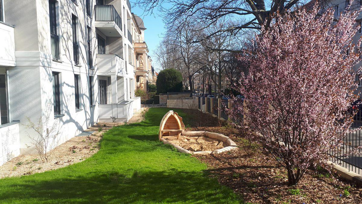 Blaurock landschaftsarchitektur dresden Kirschblüte Garten Liebigstraße