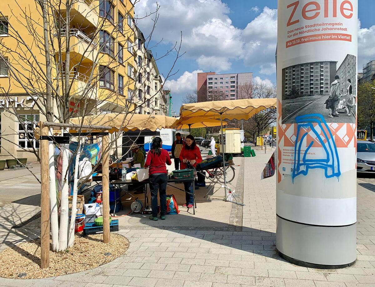 Markt auf dem Bönischplatz Blaurock Landschaftsarchitektur